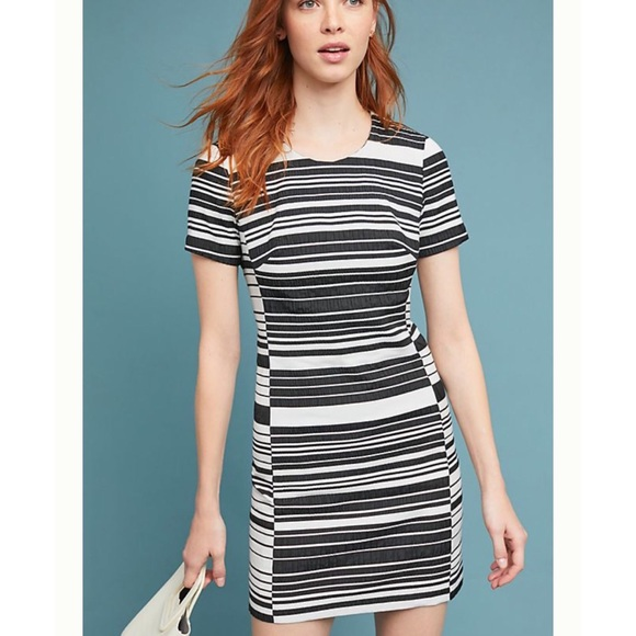"Anthropologie Dresses & Skirts - Anthro ""Hutch"" Black Brixton Striped Dress NWOT"